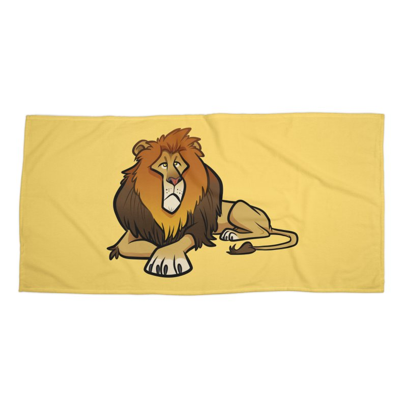 Lion Accessories Beach Towel by binarygod's Artist Shop