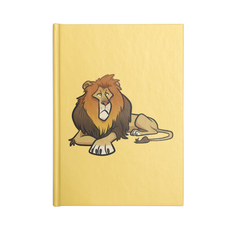Lion Accessories Blank Journal Notebook by binarygod's Artist Shop