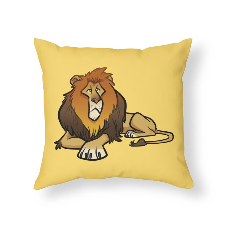 Lion Home Throw Pillow by binarygod's Artist Shop