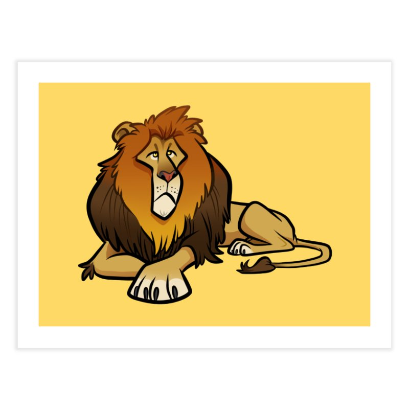 Lion Home Fine Art Print by binarygod's Artist Shop