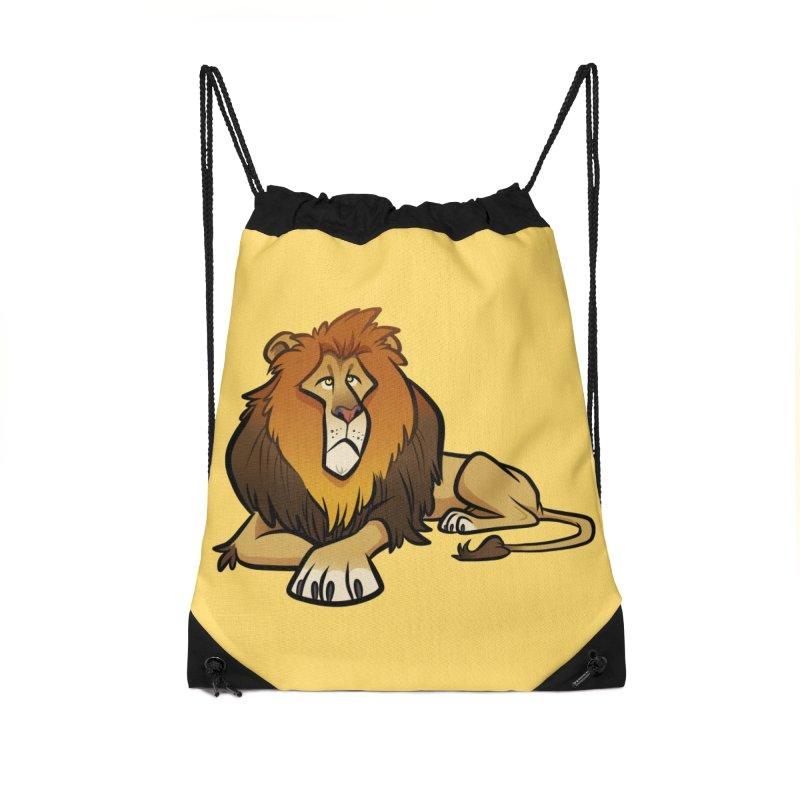 Lion Accessories Drawstring Bag Bag by binarygod's Artist Shop