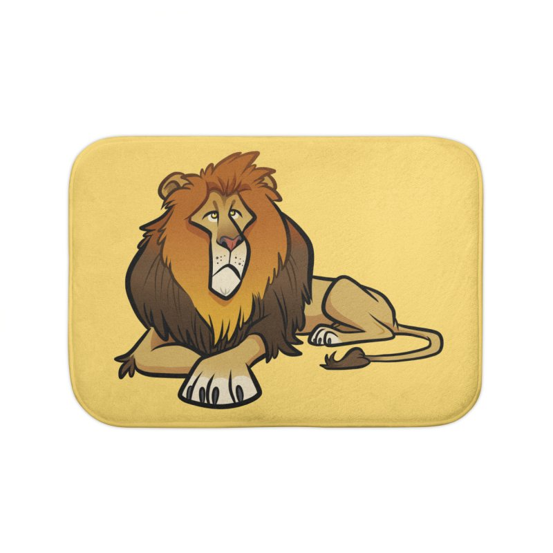 Lion Home Bath Mat by binarygod's Artist Shop