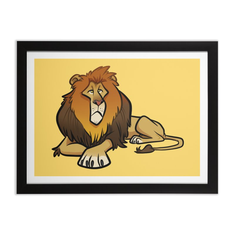 Lion Home Framed Fine Art Print by binarygod's Artist Shop