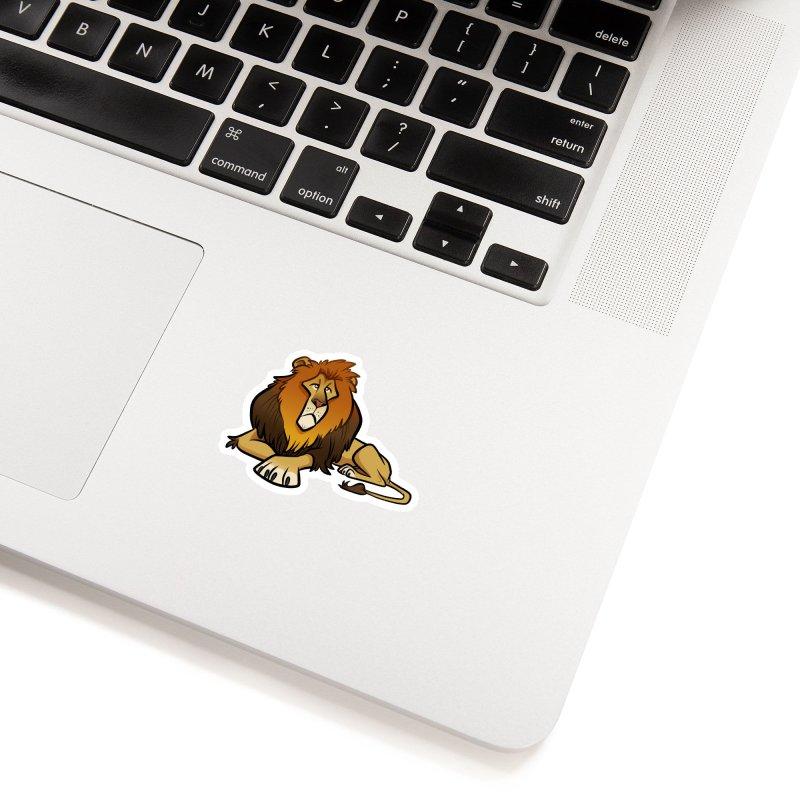 Lion Accessories Sticker by binarygod's Artist Shop