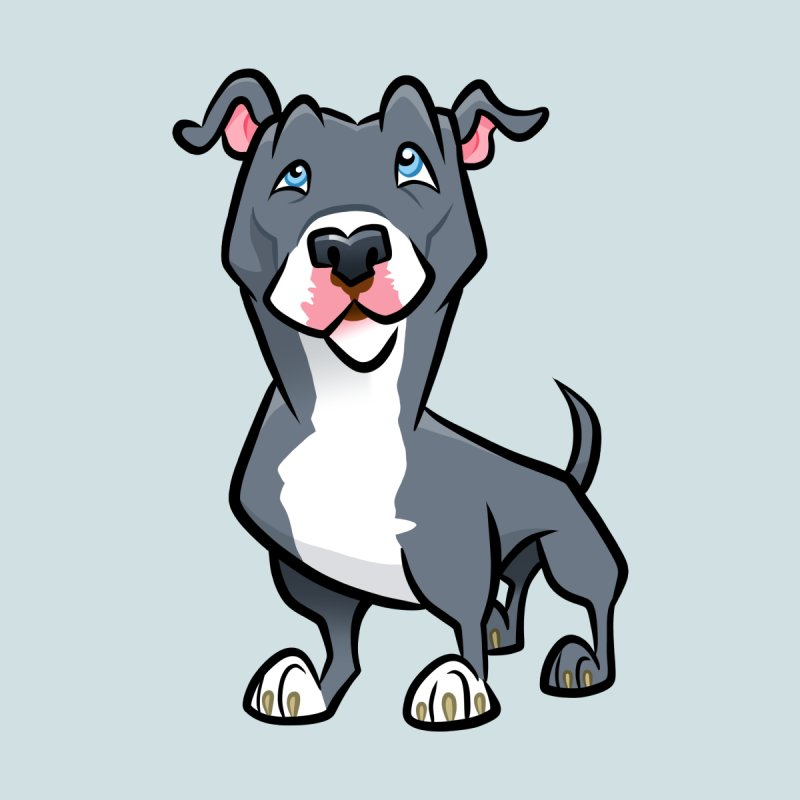 Blue Pit Bull Men's Tank by binarygod's Artist Shop