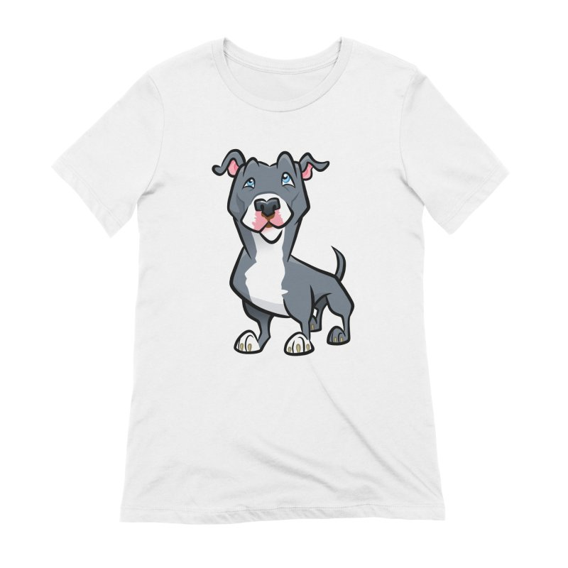 Blue Pit Bull Women's Extra Soft T-Shirt by binarygod's Artist Shop