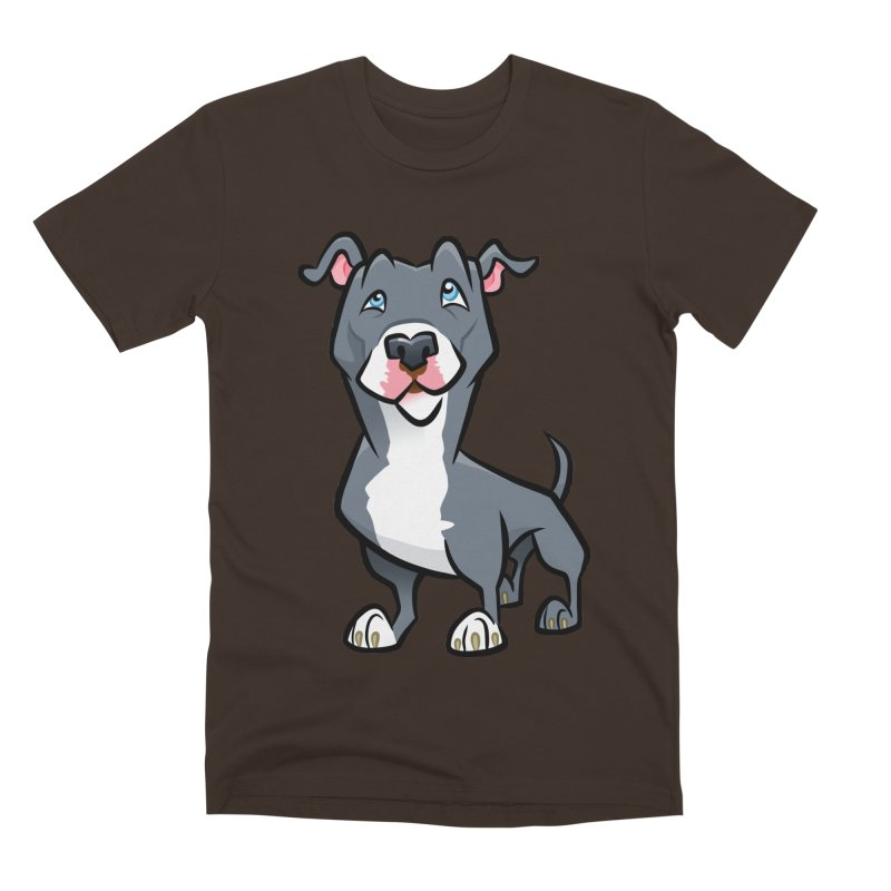 Blue Pit Bull Men's Premium T-Shirt by binarygod's Artist Shop