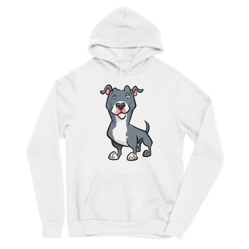 Blue Pit Bull Women's Sponge Fleece Pullover Hoody by binarygod's Artist Shop