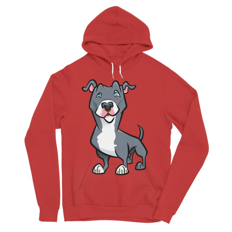 Blue Pit Bull Men's Pullover Hoody by binarygod's Artist Shop