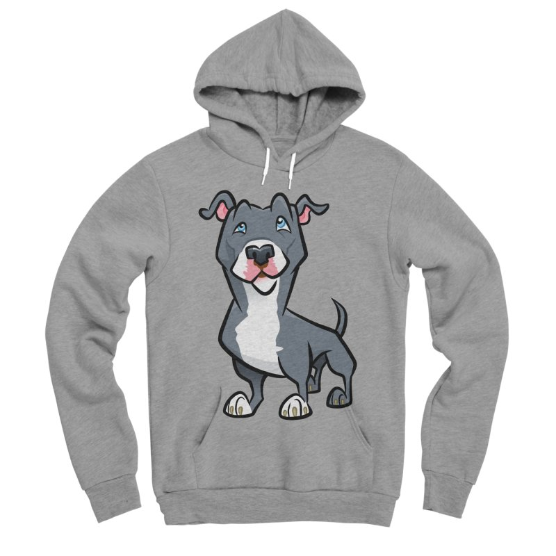 Blue Pit Bull Men's Sponge Fleece Pullover Hoody by binarygod's Artist Shop