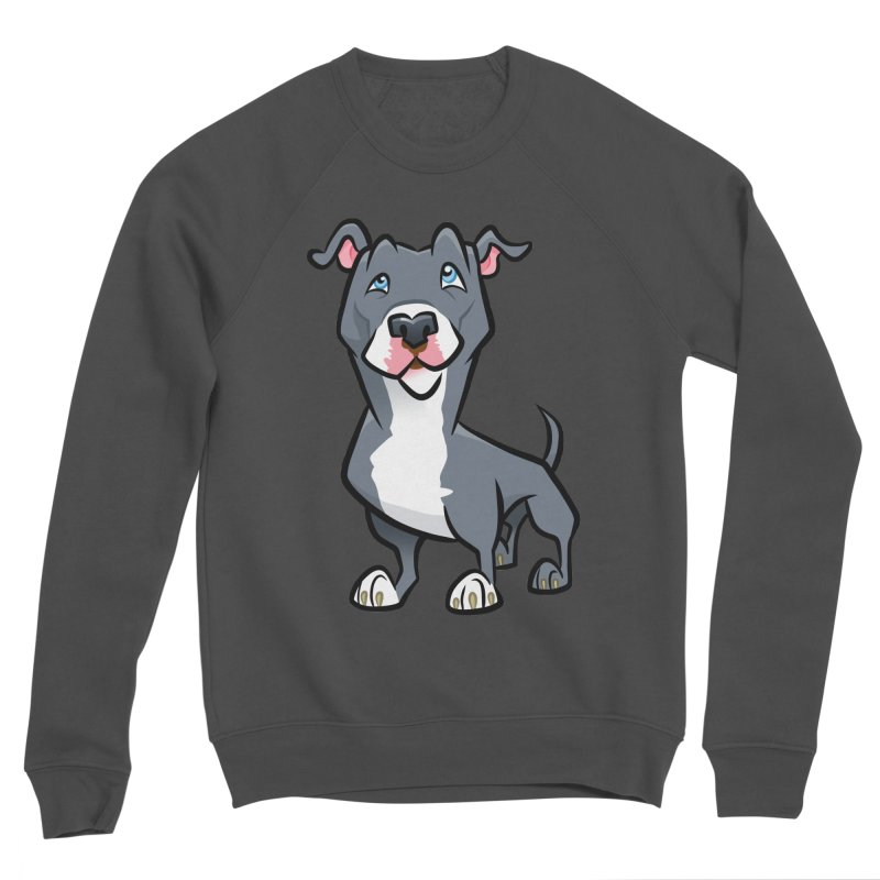 Blue Pit Bull Men's Sponge Fleece Sweatshirt by binarygod's Artist Shop