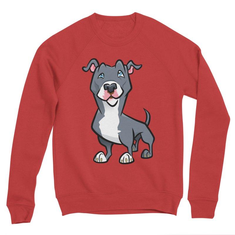 Blue Pit Bull Women's Sponge Fleece Sweatshirt by binarygod's Artist Shop