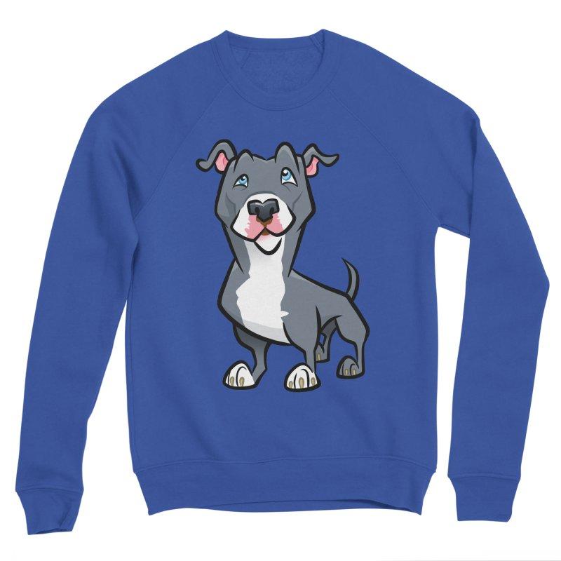Blue Pit Bull Men's Sponge Fleece Sweatshirt by binarygod's Artist Shop