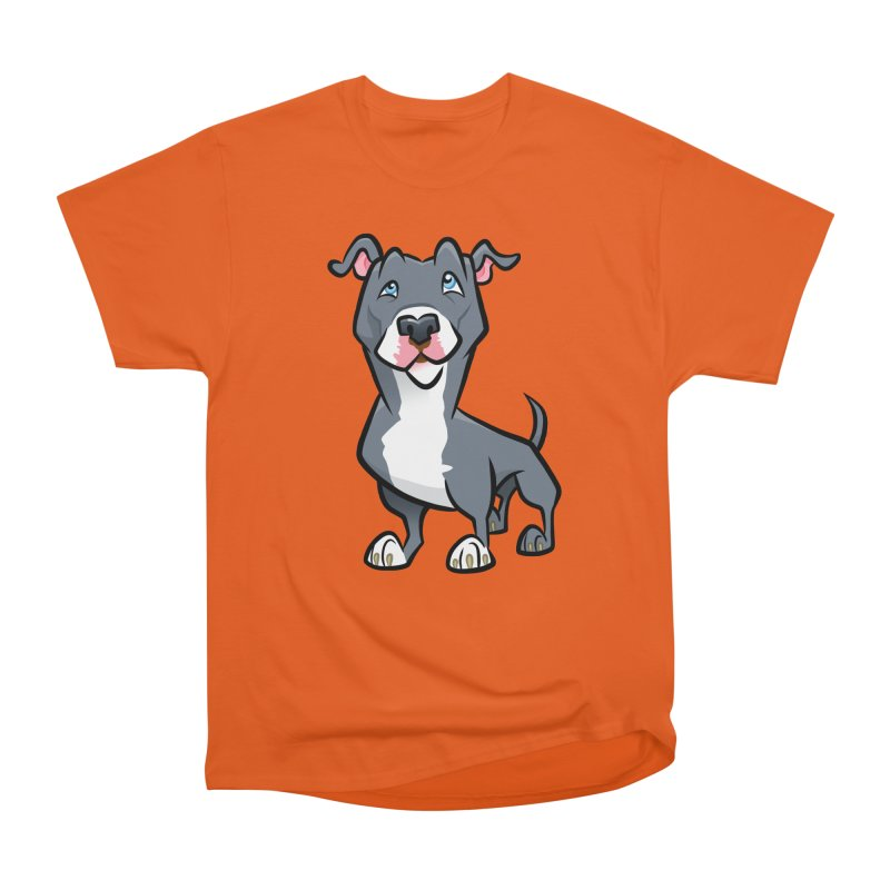 Blue Pit Bull Men's T-Shirt by binarygod's Artist Shop
