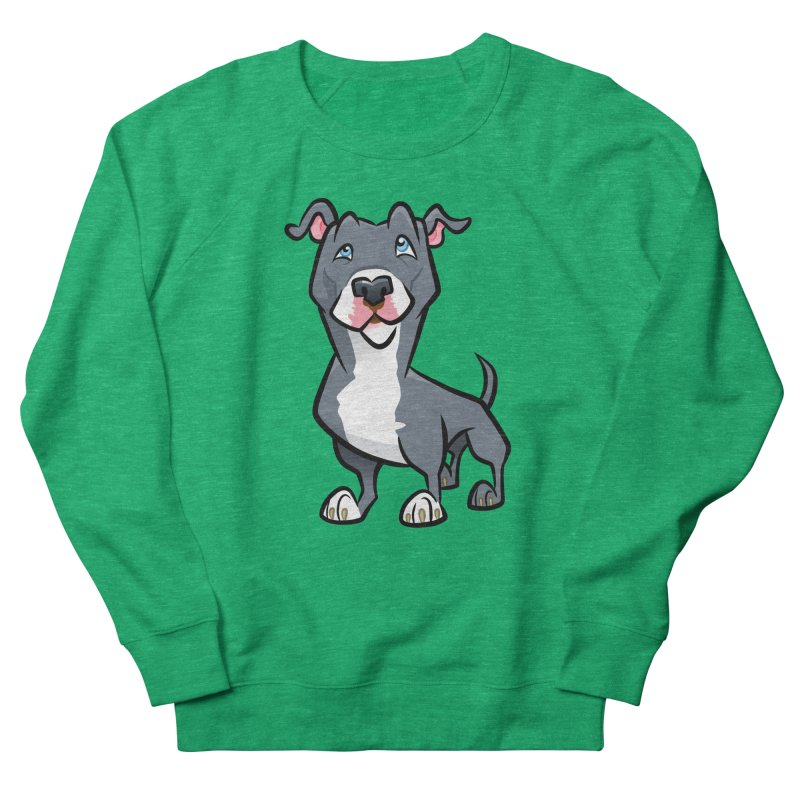 Blue Pit Bull Women's Sweatshirt by binarygod's Artist Shop