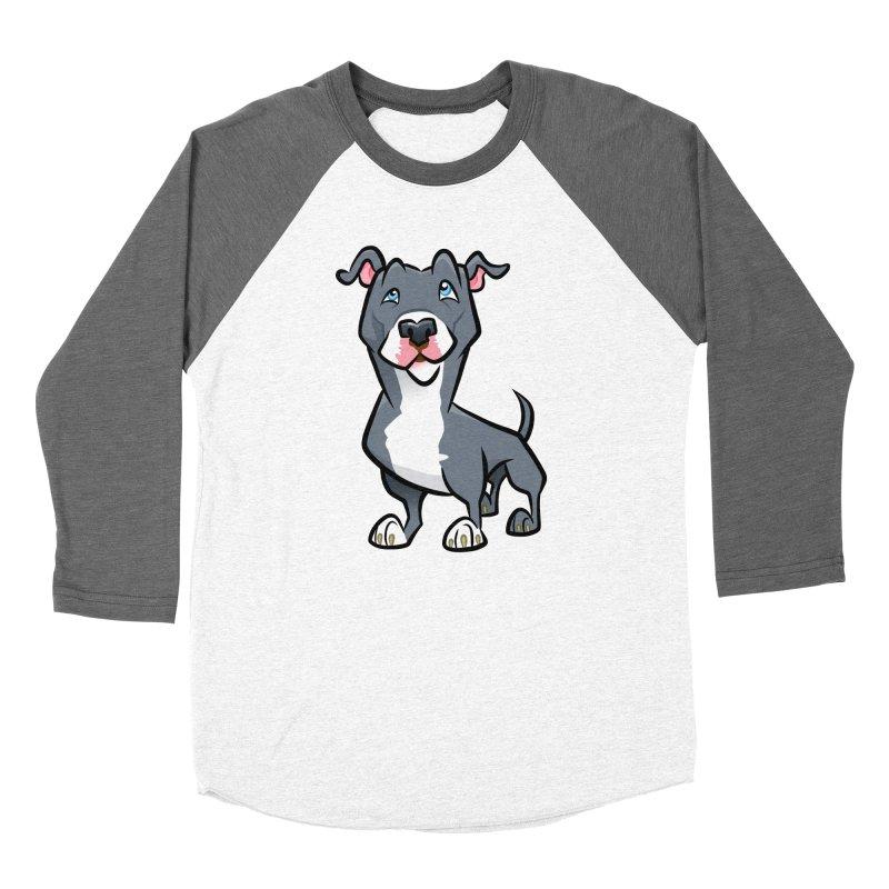Blue Pit Bull Women's Longsleeve T-Shirt by binarygod's Artist Shop