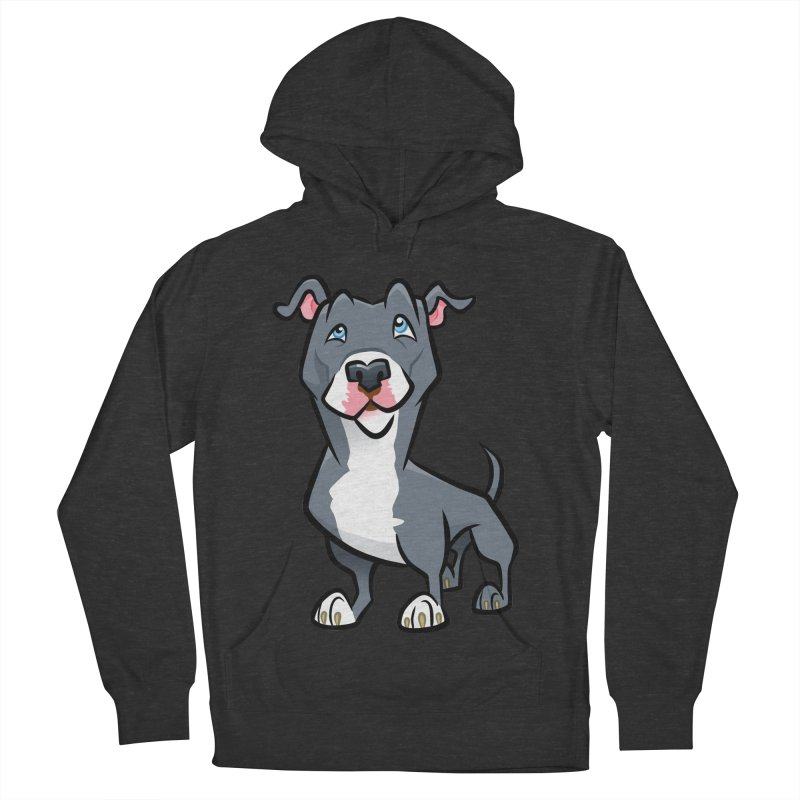 Blue Pit Bull Women's French Terry Pullover Hoody by binarygod's Artist Shop
