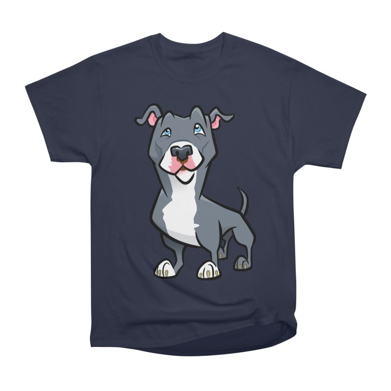 Blue Pit Bull Women's Heavyweight Unisex T-Shirt by binarygod's Artist Shop