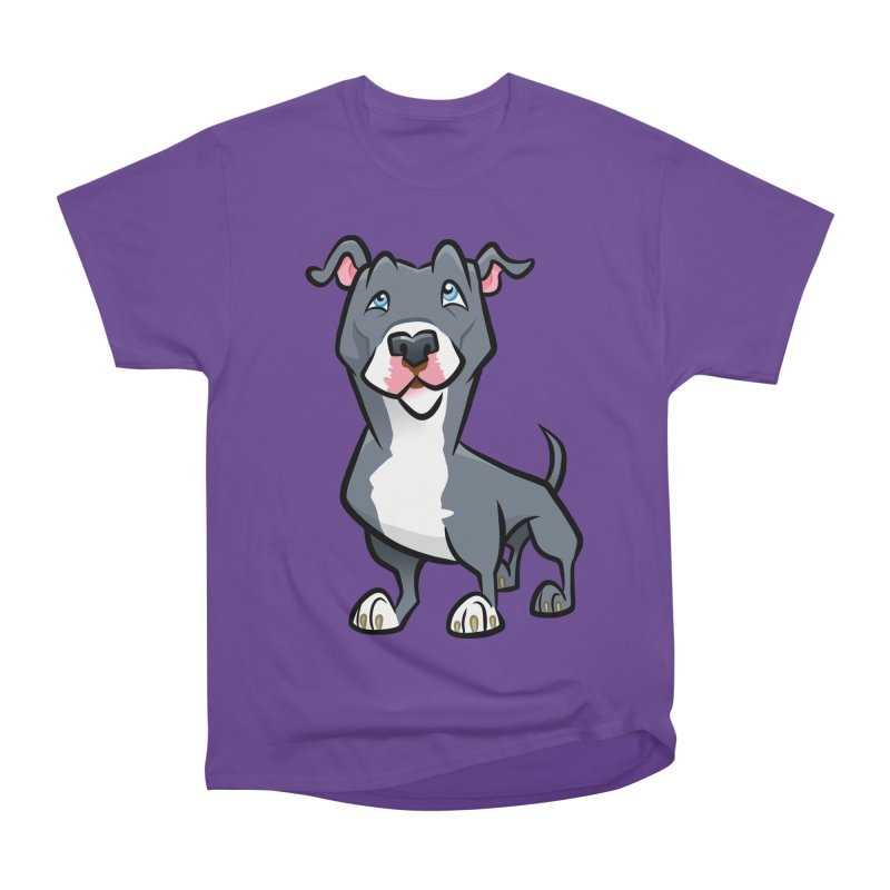 Blue Pit Bull Men's Heavyweight T-Shirt by binarygod's Artist Shop