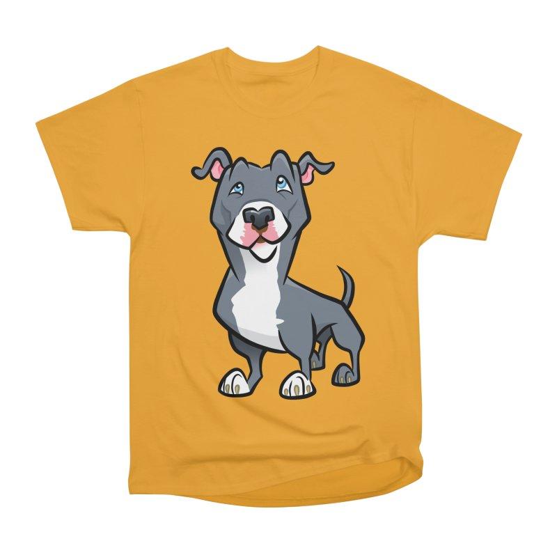 Blue Pit Bull Men's Heavyweight T-Shirt by binarygod's Artist Shop