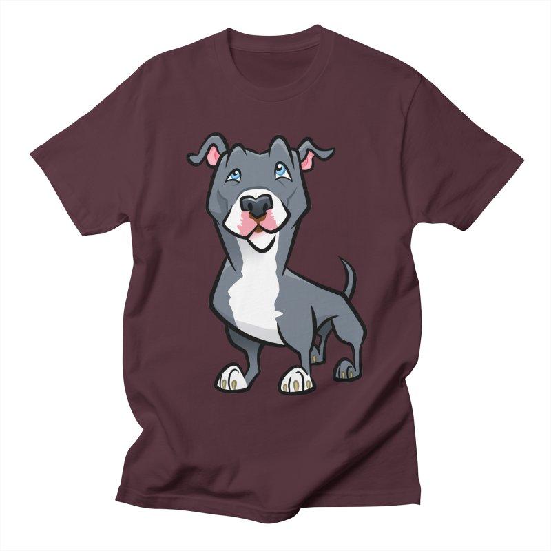 Blue Pit Bull Women's Regular Unisex T-Shirt by binarygod's Artist Shop