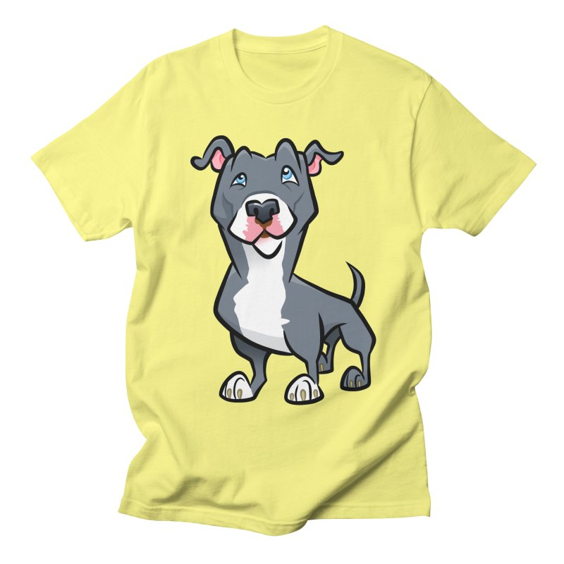 Blue Pit Bull Women's Regular Unisex T-Shirt by binarygod's Artist Shop