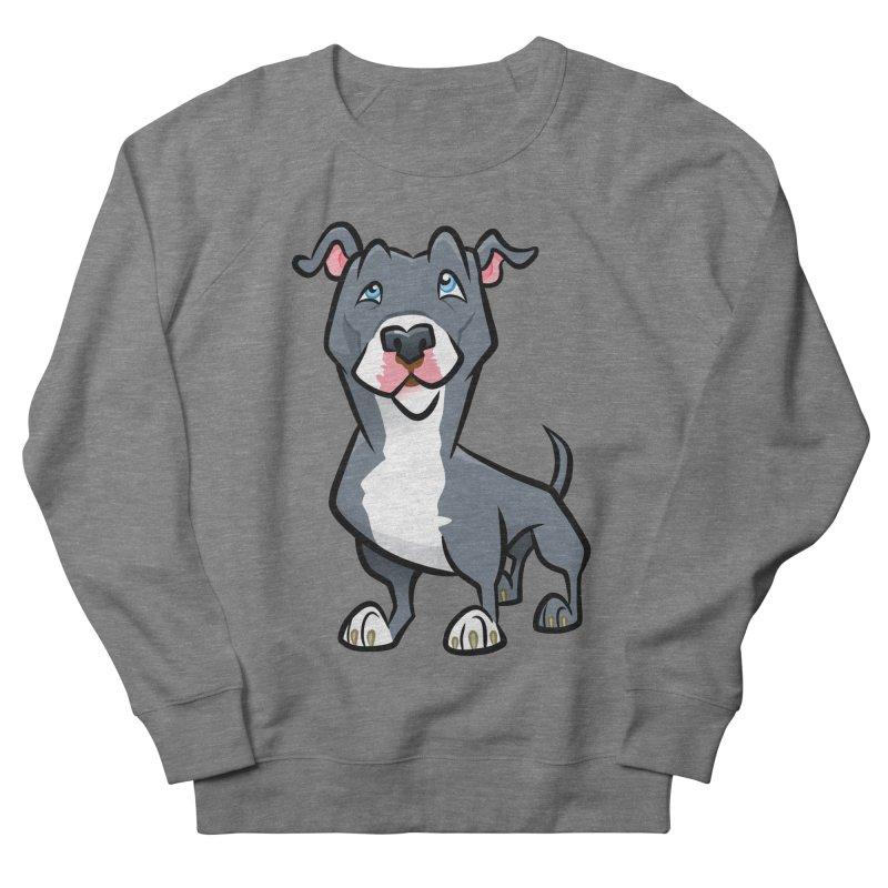Blue Pit Bull Women's French Terry Sweatshirt by binarygod's Artist Shop