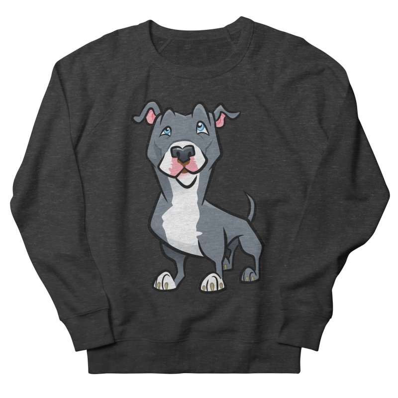 Blue Pit Bull Men's French Terry Sweatshirt by binarygod's Artist Shop