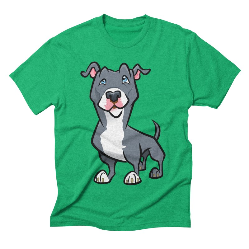 Blue Pit Bull Men's Triblend T-Shirt by binarygod's Artist Shop
