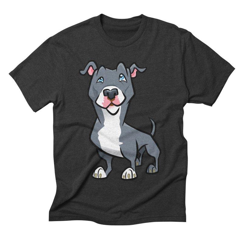Blue Pit Bull Men's Triblend T-Shirt by binarygod's Artist Shop