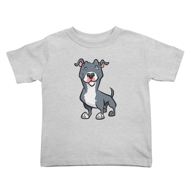Blue Pit Bull Kids Toddler T-Shirt by binarygod's Artist Shop