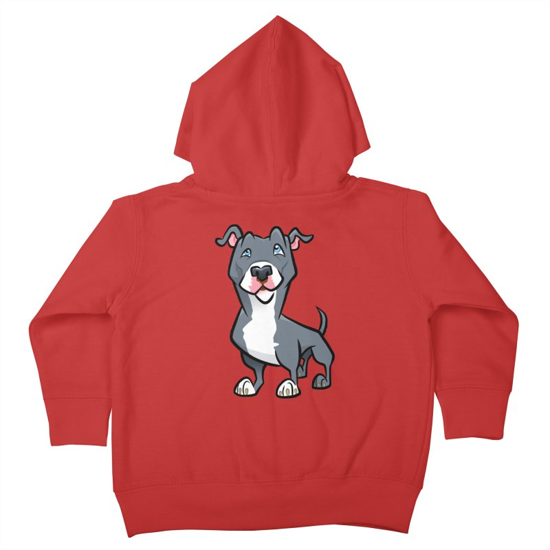 Blue Pit Bull Kids Toddler Zip-Up Hoody by binarygod's Artist Shop