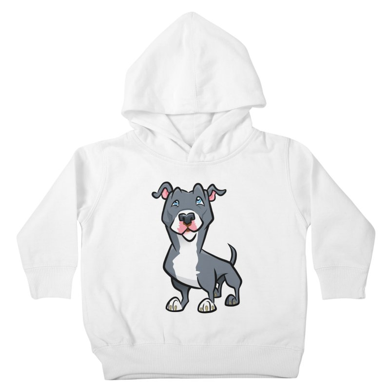 Blue Pit Bull Kids Toddler Pullover Hoody by binarygod's Artist Shop