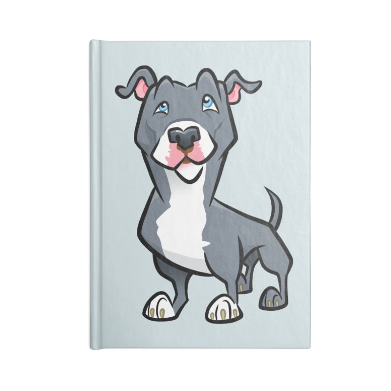 Blue Pit Bull Accessories Blank Journal Notebook by binarygod's Artist Shop