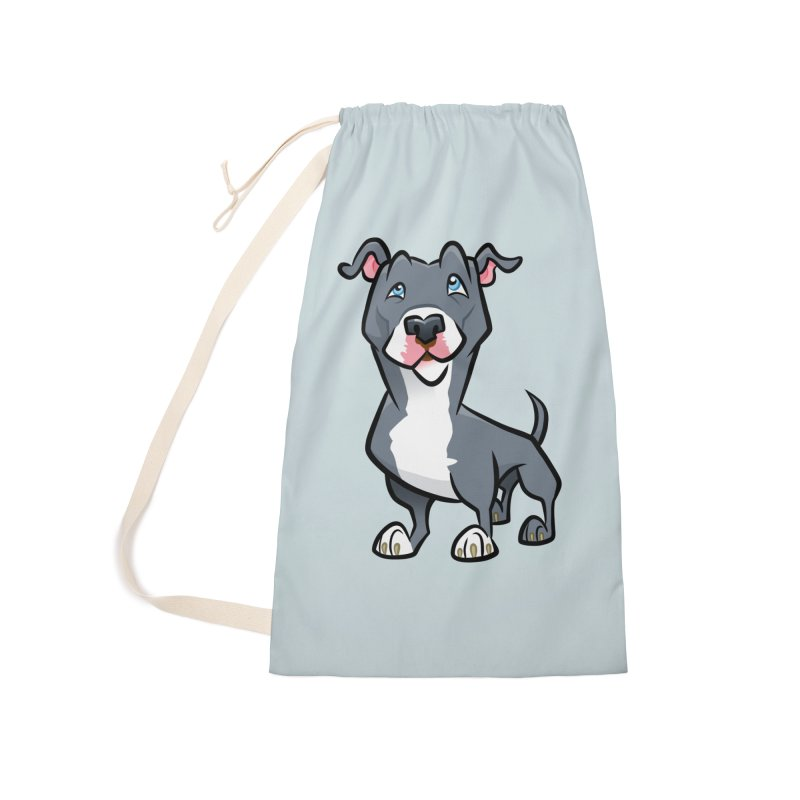 Blue Pit Bull Accessories Laundry Bag Bag by binarygod's Artist Shop