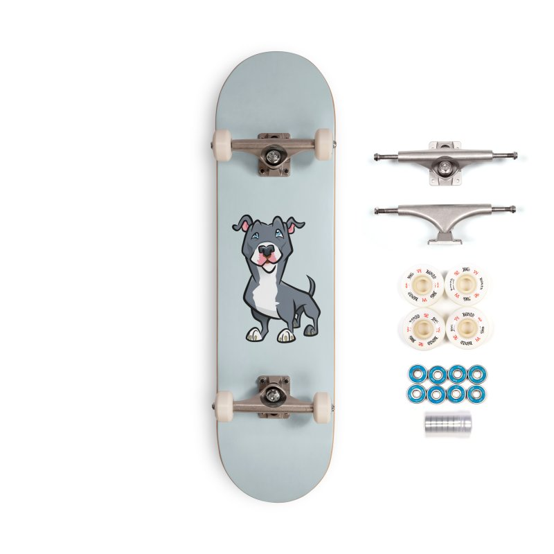Blue Pit Bull Accessories Complete - Premium Skateboard by binarygod's Artist Shop