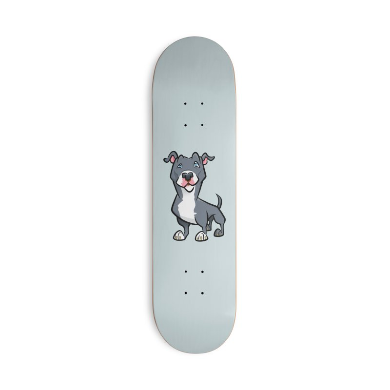 Blue Pit Bull Accessories Deck Only Skateboard by binarygod's Artist Shop