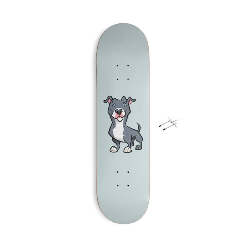 Blue Pit Bull Accessories With Hanging Hardware Skateboard by binarygod's Artist Shop
