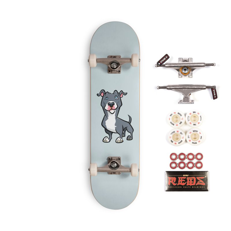 Blue Pit Bull Accessories Complete - Pro Skateboard by binarygod's Artist Shop