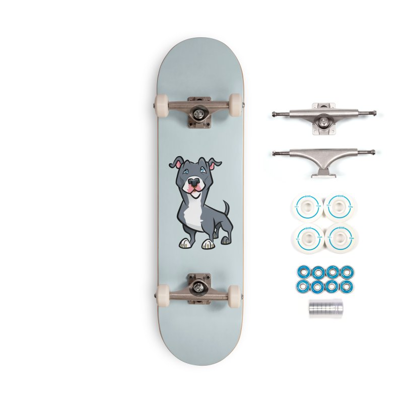 Blue Pit Bull Accessories Complete - Basic Skateboard by binarygod's Artist Shop