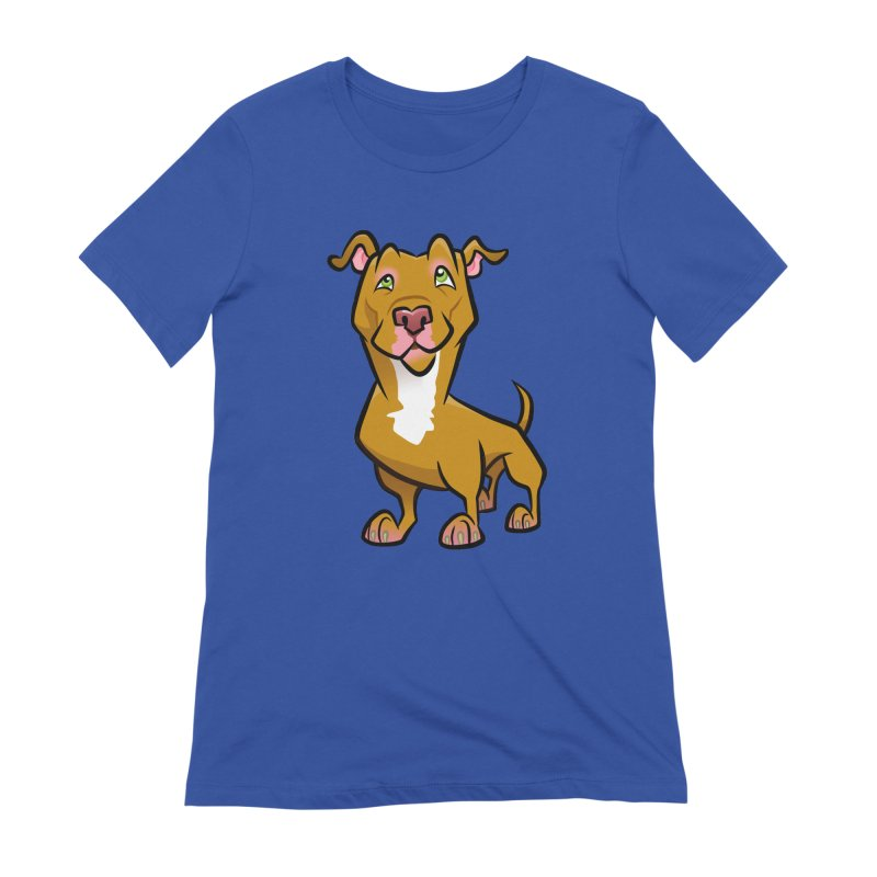 Red Pit Bull Women's Extra Soft T-Shirt by binarygod's Artist Shop