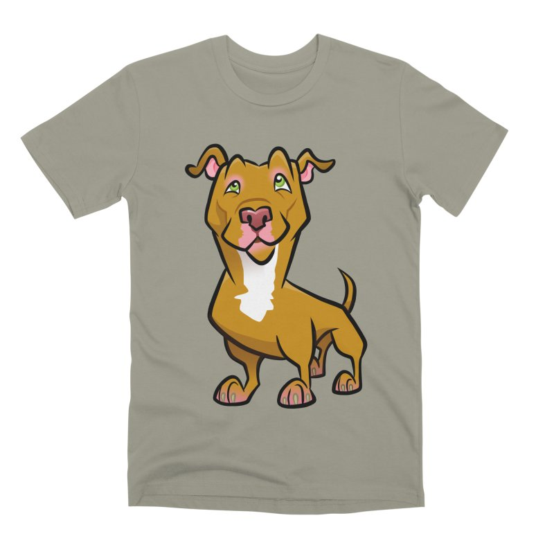 Red Pit Bull Men's Premium T-Shirt by binarygod's Artist Shop