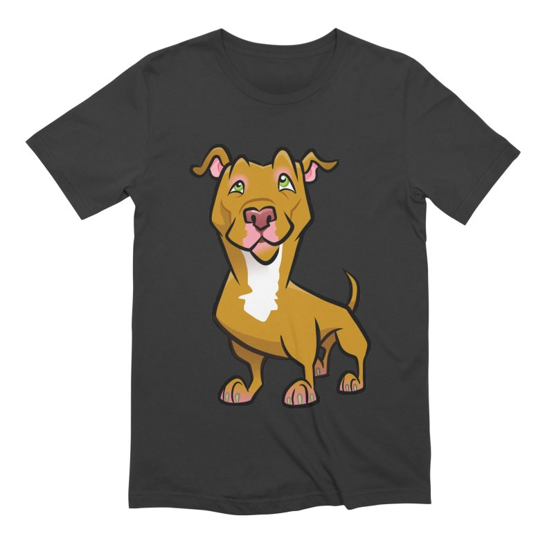 Red Pit Bull Men's Extra Soft T-Shirt by binarygod's Artist Shop