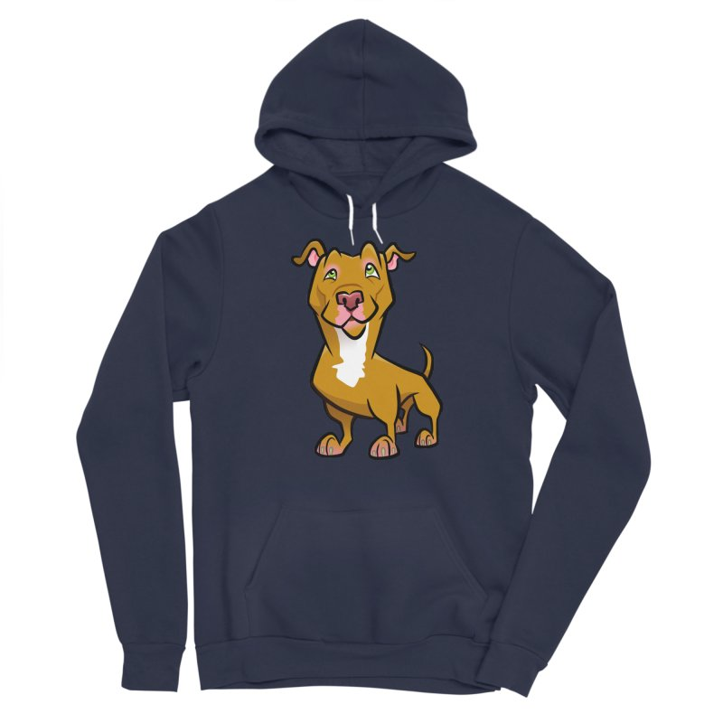 Red Pit Bull Women's Sponge Fleece Pullover Hoody by binarygod's Artist Shop