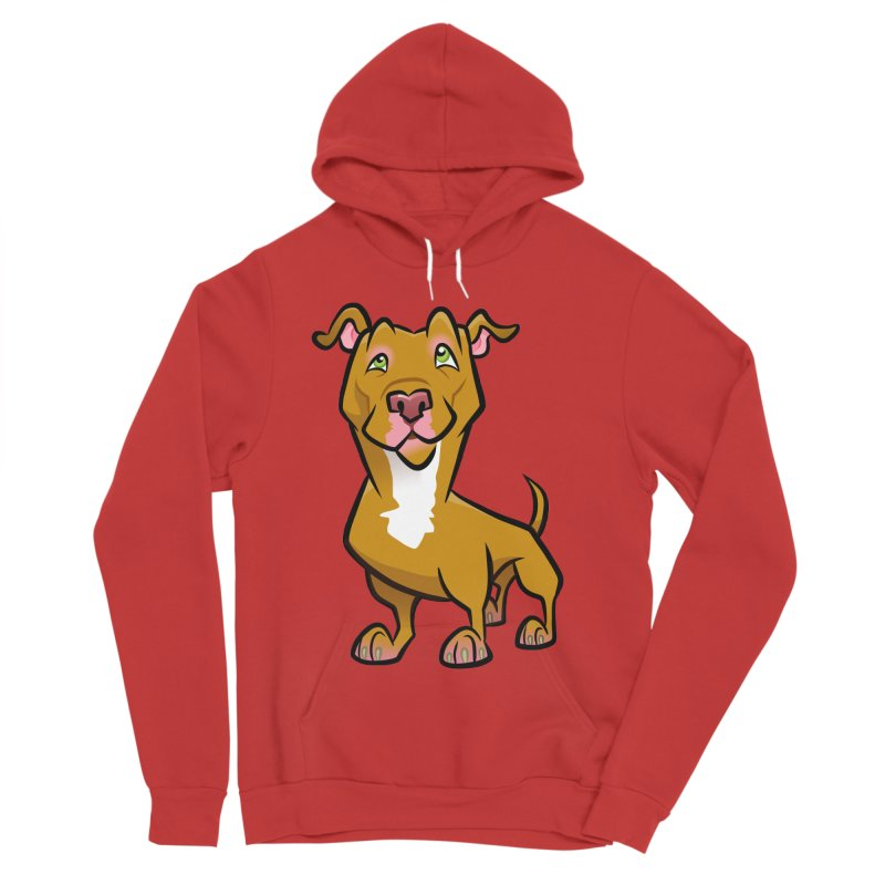 Red Pit Bull Women's Pullover Hoody by binarygod's Artist Shop
