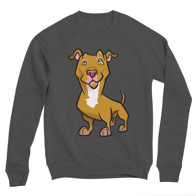 Red Pit Bull Women's Sponge Fleece Sweatshirt by binarygod's Artist Shop