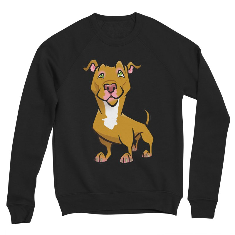 Red Pit Bull Men's Sponge Fleece Sweatshirt by binarygod's Artist Shop
