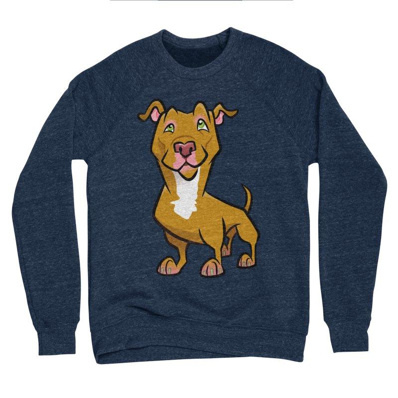 Red Pit Bull Men's Sponge Fleece Sweatshirt by binarygod's Artist Shop