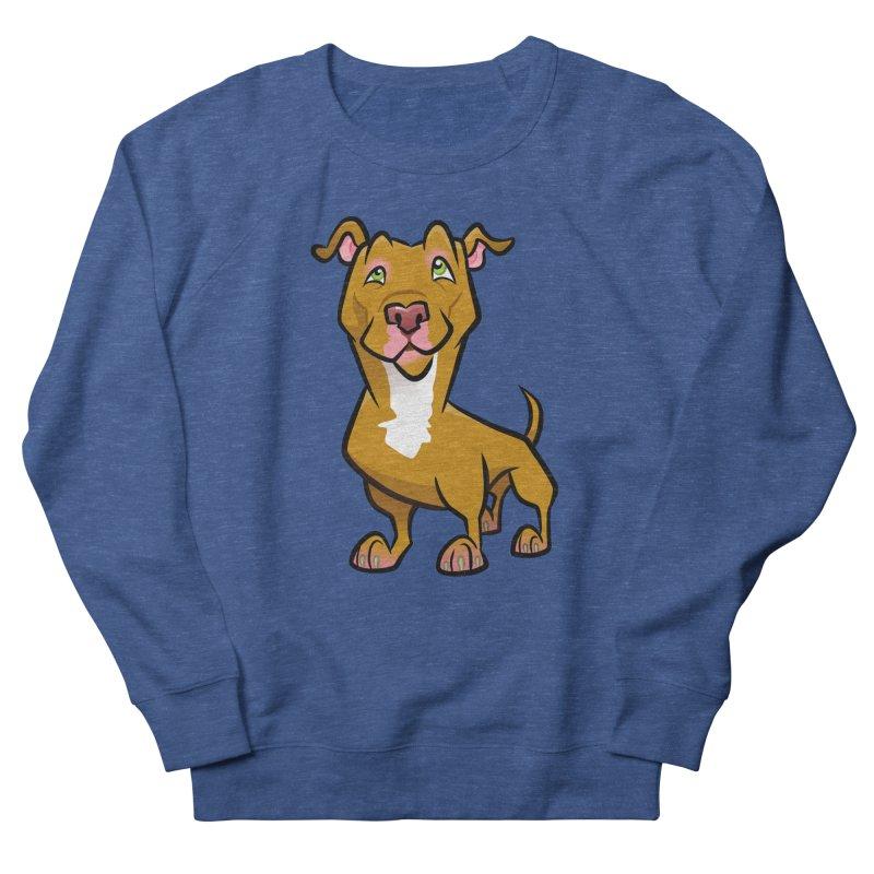 Red Pit Bull Men's Sweatshirt by binarygod's Artist Shop