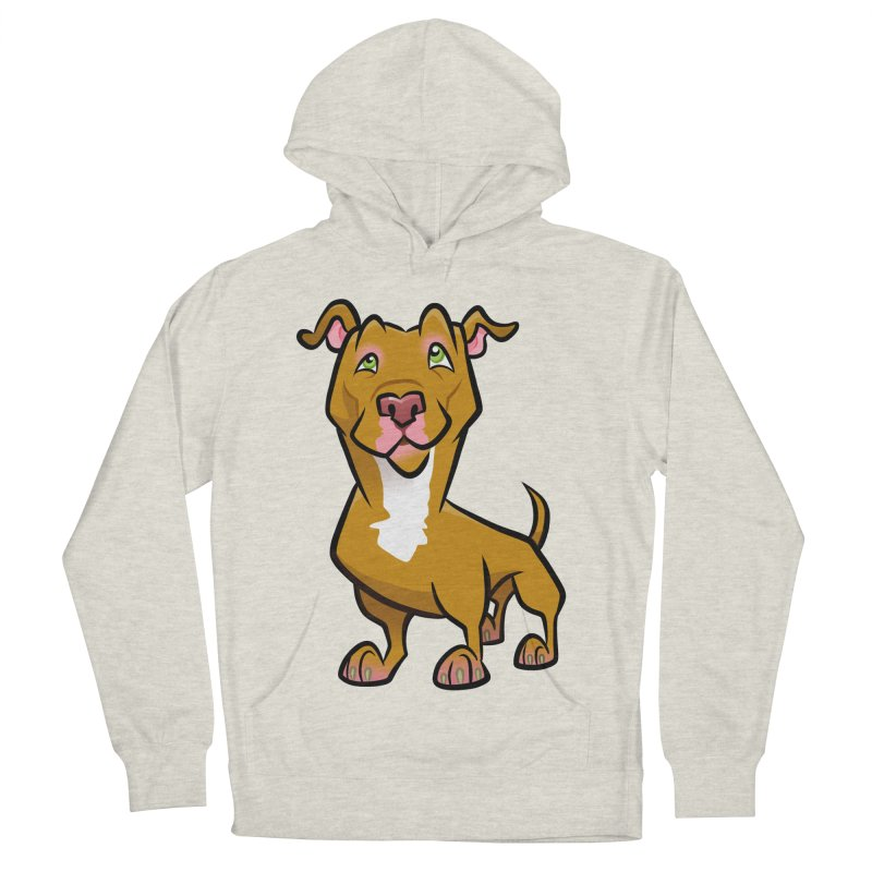 Red Pit Bull Women's French Terry Pullover Hoody by binarygod's Artist Shop